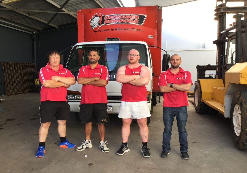 Picture of Crusader Removals Team with the Truck